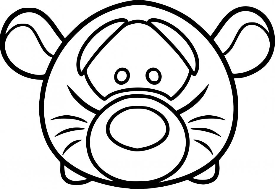 Coloriage Tsum Tsum dessin à imprimer