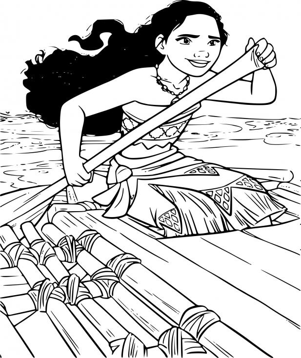 Coloriage Vaiana dessin à imprimer