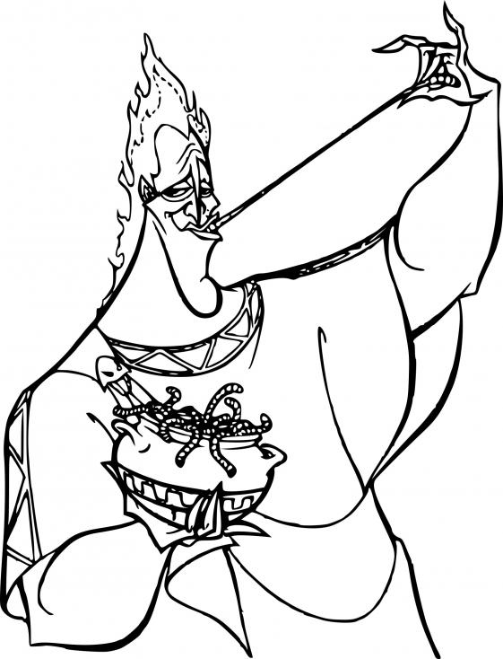 Coloriage Hades Hercule à imprimer