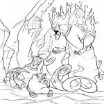 Coloriage Hercule les méchants