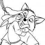 Robin des bois Bobby dessin à colorier