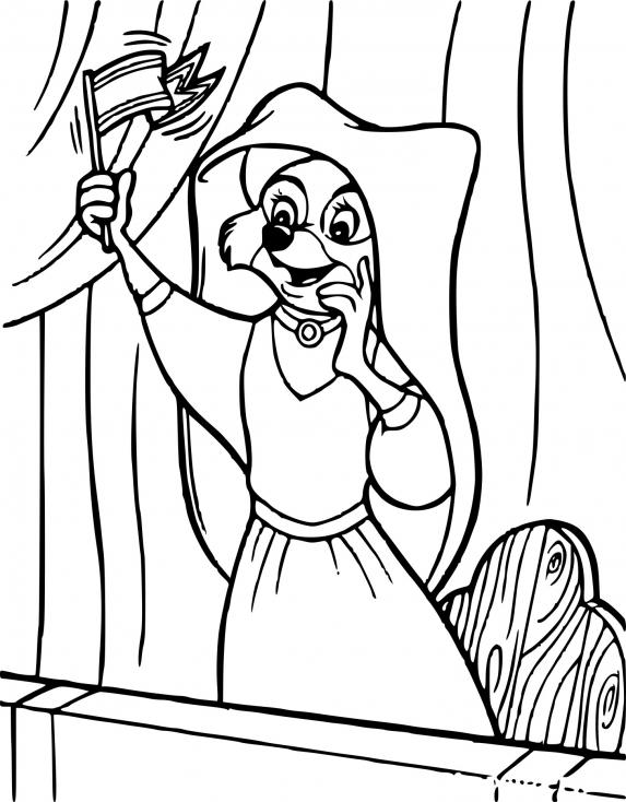 Coloriage Robin des bois Marianne à imprimer