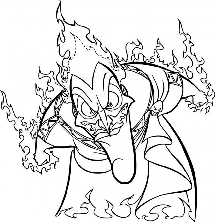 Coloriage Hades dessin à imprimer