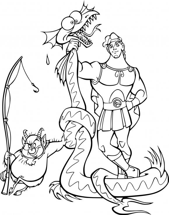 Coloriage Hercule dessin à imprimer