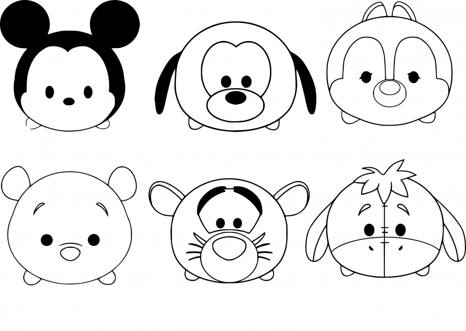 Coloriage Tsum Tsum Mickey à imprimer