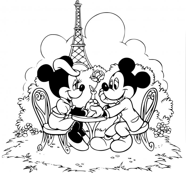 Coloriage Disney Land à imprimer