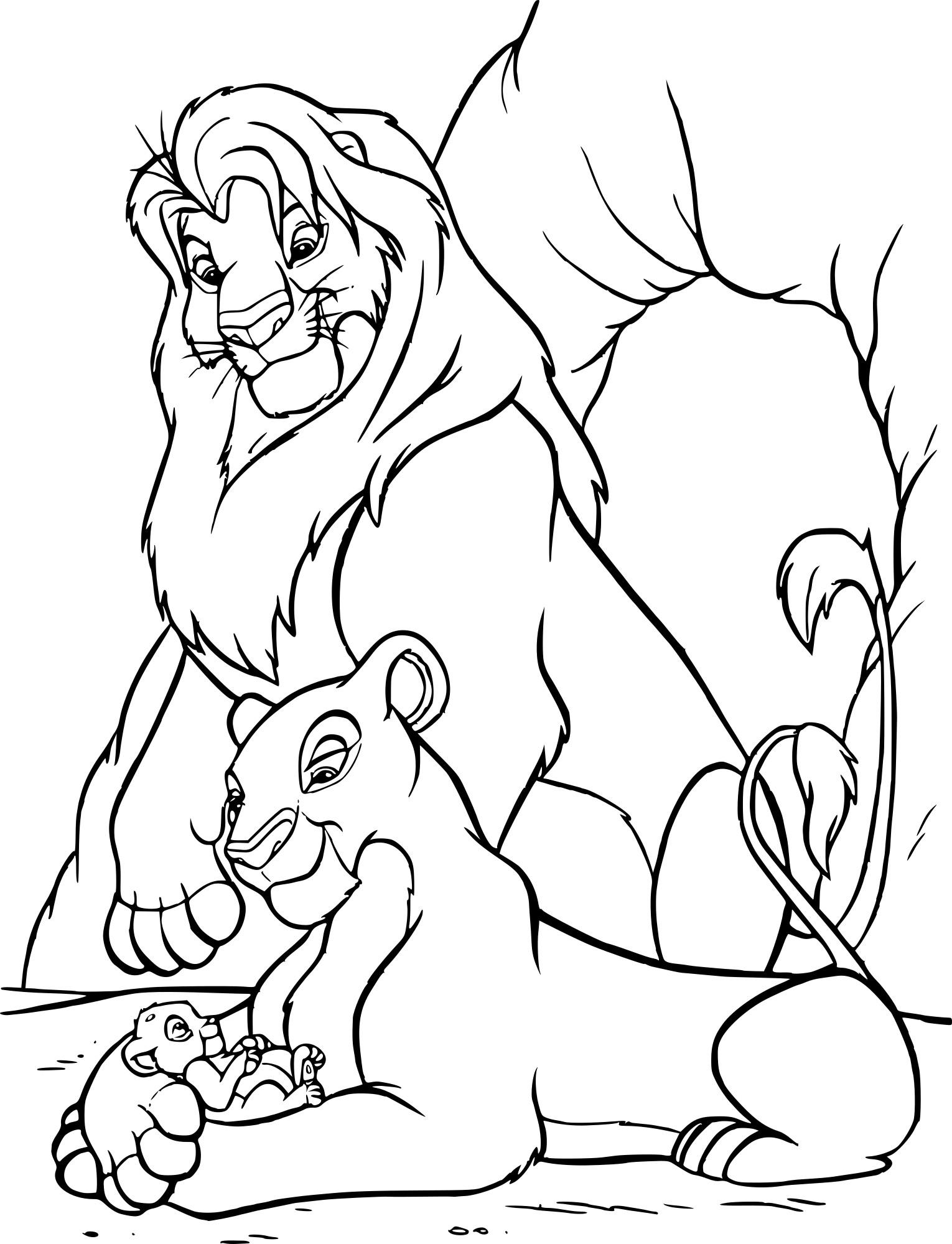 Coloriage Roi Lion dessin à imprimer sur COLORIAGES .info