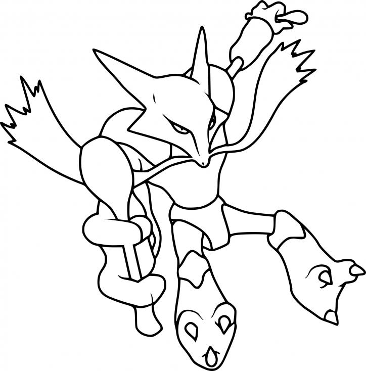 Coloriage Alakazam Pokemon à imprimer