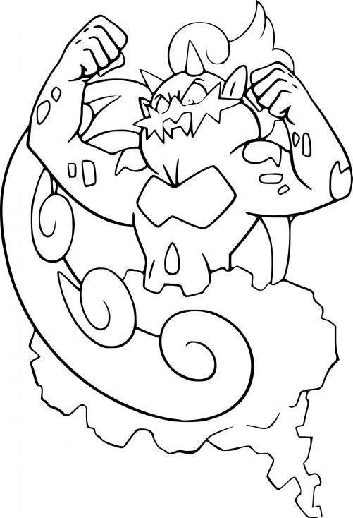 Coloriage Boréas Pokemon à imprimer