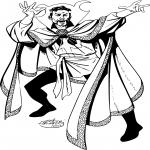 Docteur Strange dessin à colorier