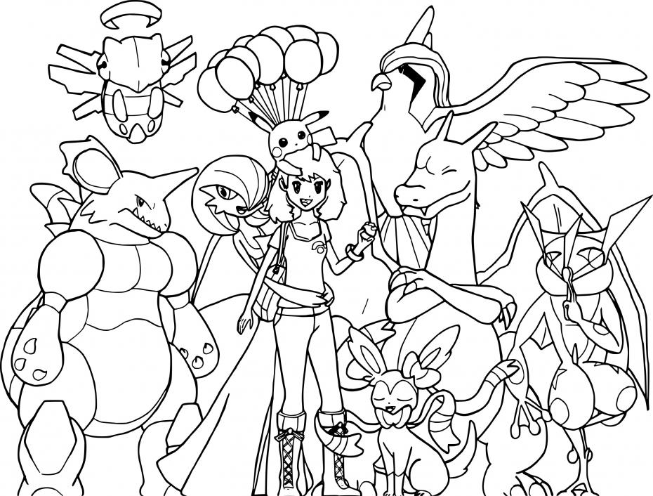 Coloriage Pokemon noir et blanc à imprimer