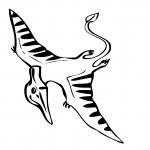 Dinosaure pteranodon dessin à colorier