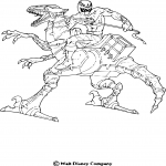 Dinosaure robot dessin à colorier