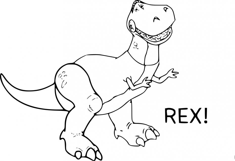 Coloriage Dinosaure Toy Story à imprimer
