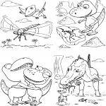Famille Dino Train dessin à colorier
