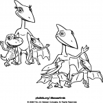 Dino Train dessin dessin à colorier