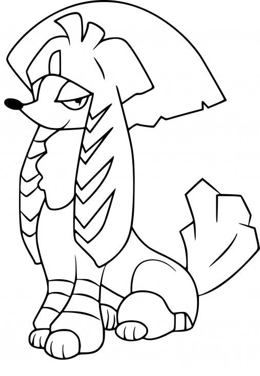Coloriage Couafarel coupe Kabuki Pokemon à imprimer