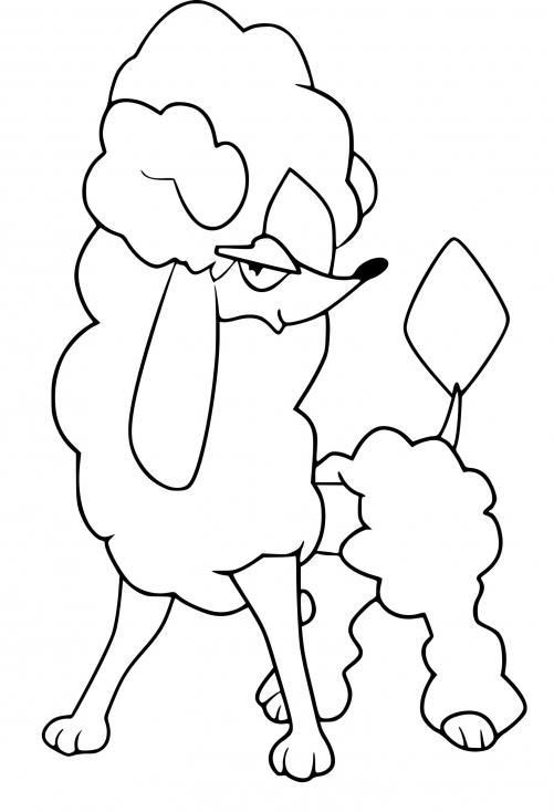 Coloriage Couafarel forme diamant Pokemon à imprimer