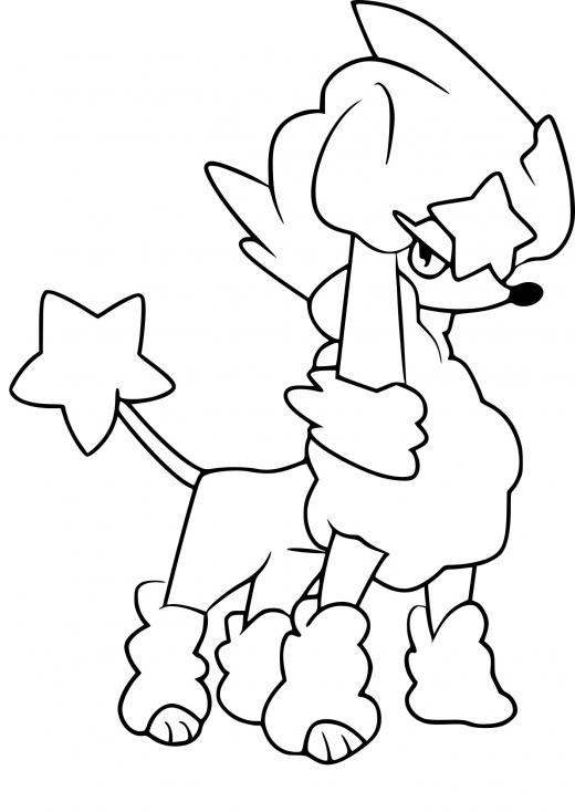 Coloriage Couafarel forme étoile Pokemon à imprimer