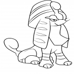 Coloriage Couafarel forme pharaon Pokemon