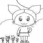 Grabouillon Petunia dessin à colorier