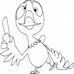 Grabouillon pigeon dessin à colorier