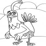 Grabouillon poulet dessin à colorier