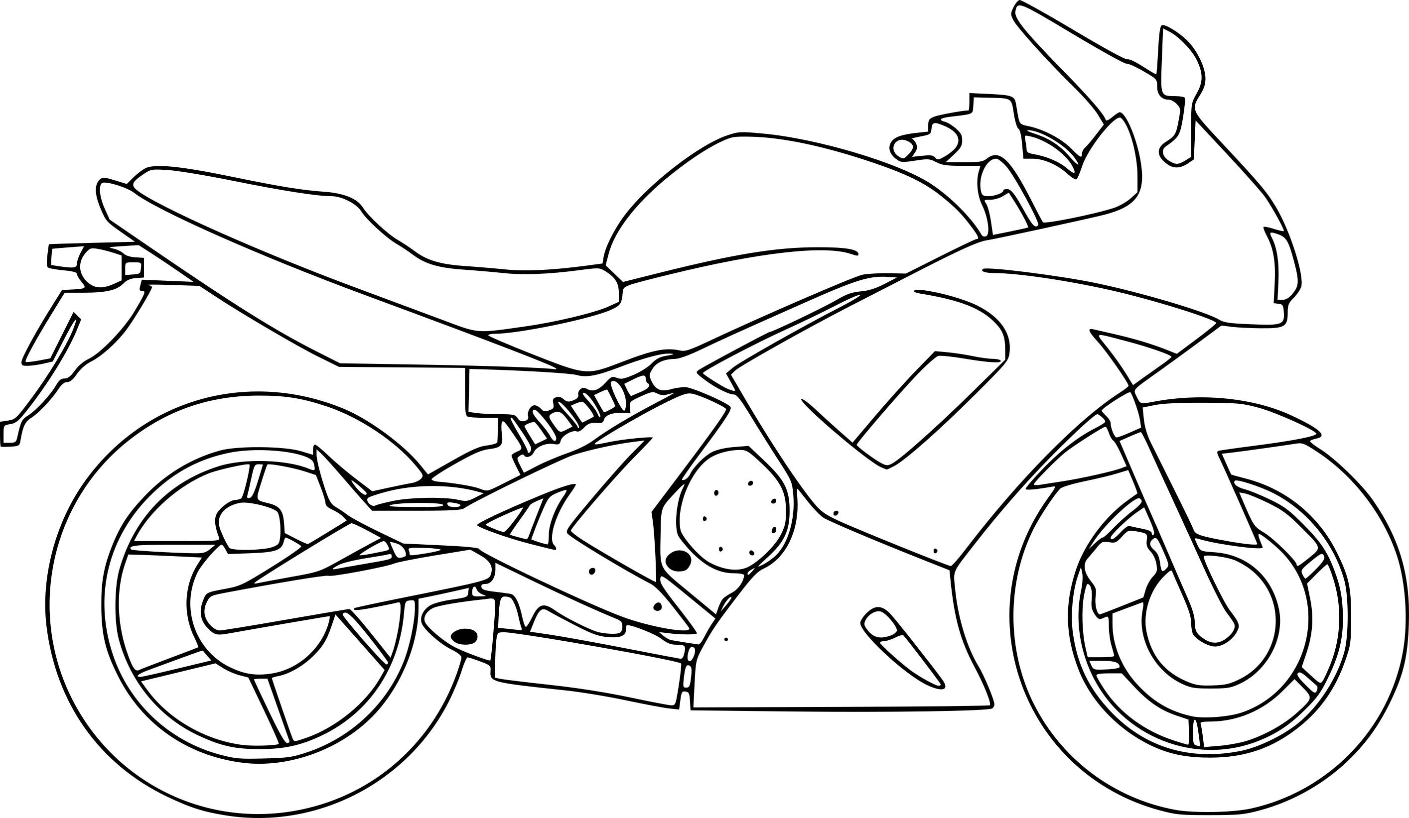 Élégant Dessin A Imprimer Moto Trial