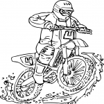 Coloriage Moto Yamaha