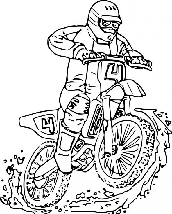 Coloriage Moto Yamaha à imprimer