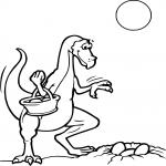 Coloriage Oeuf dinosaure