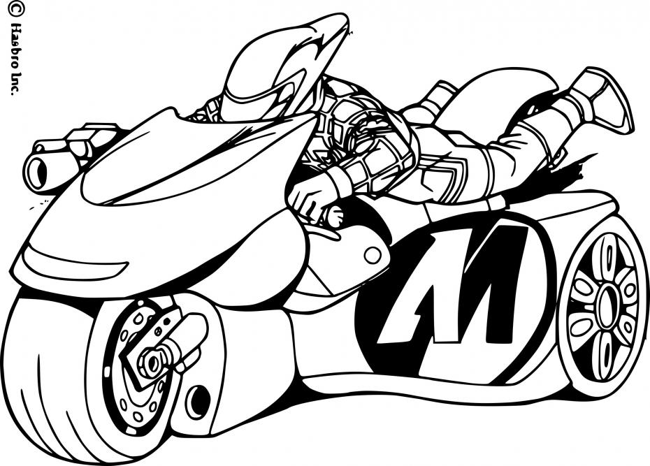 Coloriage Transformers moto à imprimer