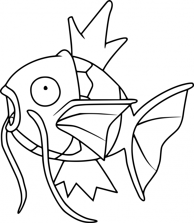 Coloriage Magicarpe Pokemon à imprimer