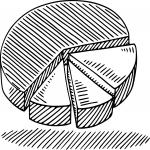 Camembert dessin à colorier