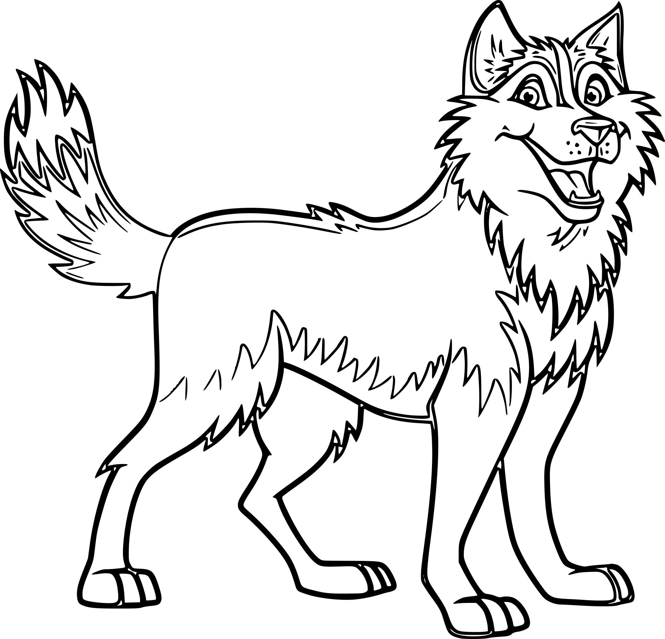 chien husky - Coloriage Chien