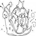 Coloriage Escargot à noël