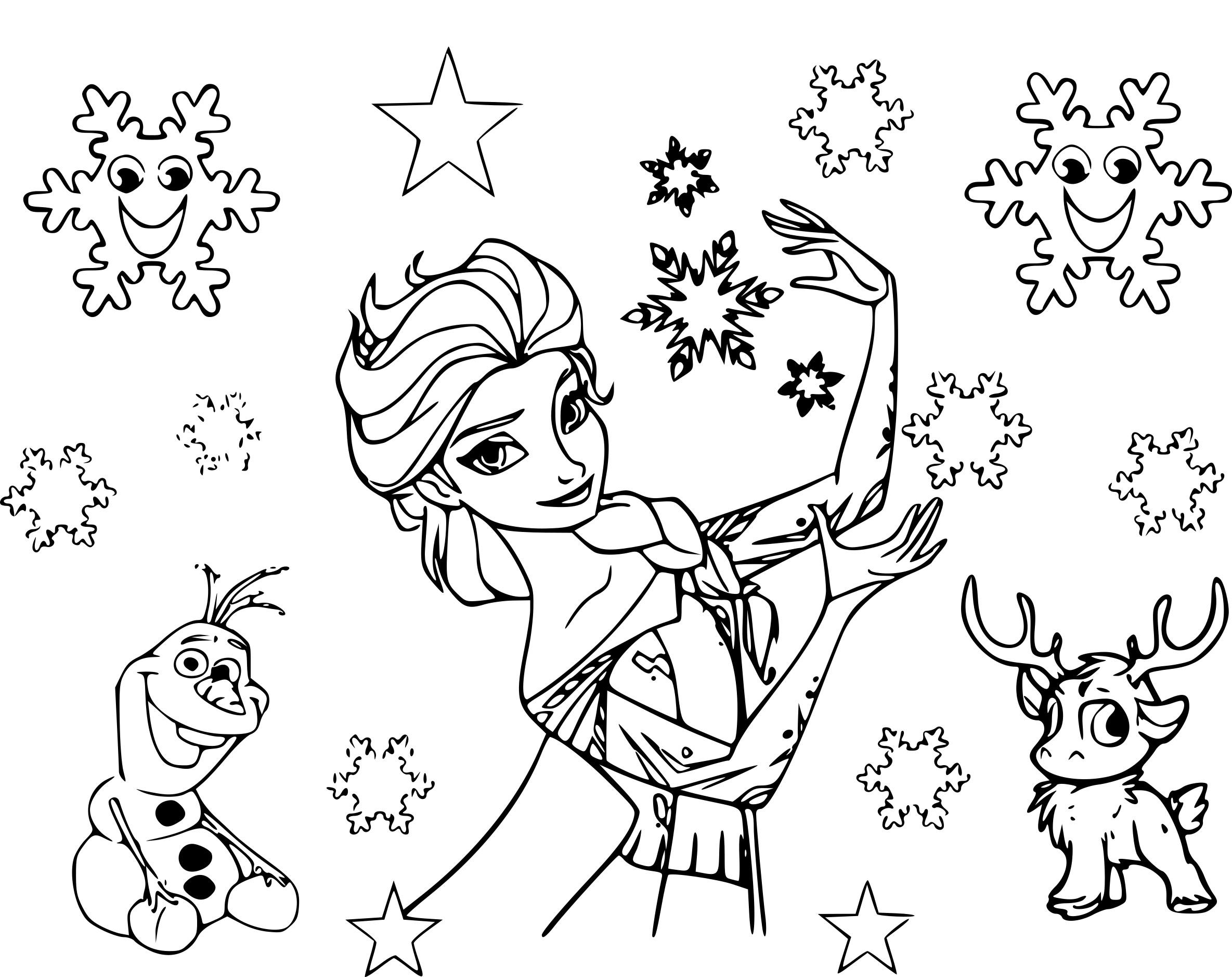 Coloriage etoile reine des neiges imprimer sur coloriages info - Dessin etoile des neiges ...
