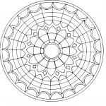 Mandala vitrail