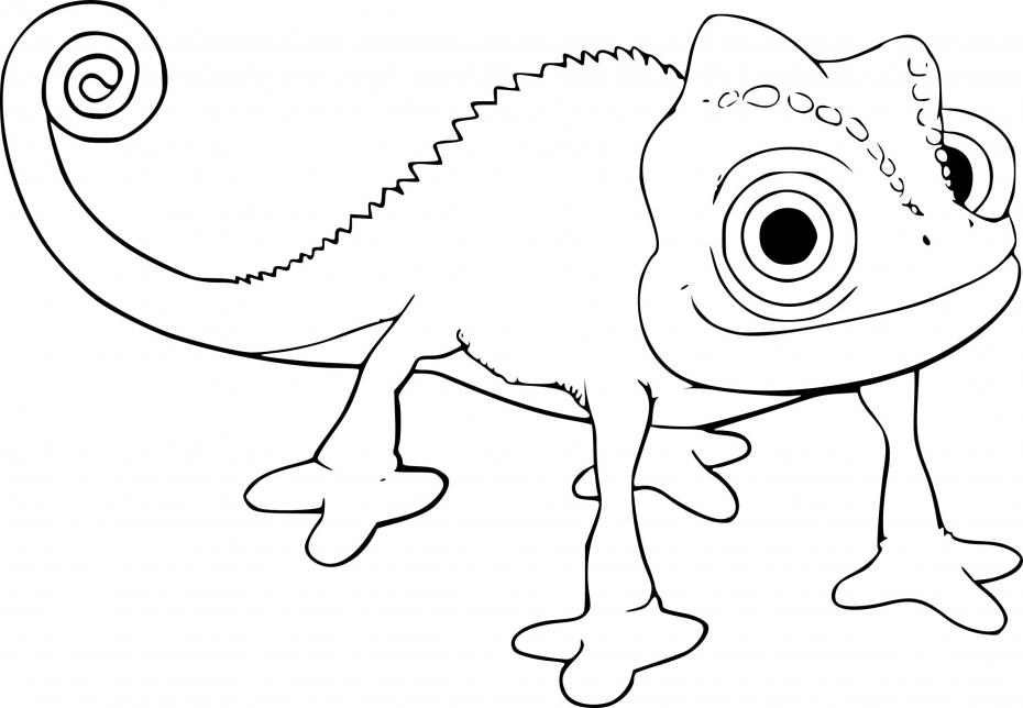 Coloriage Pascal le caméléon à imprimer