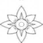 Rosace etoile dessin à colorier
