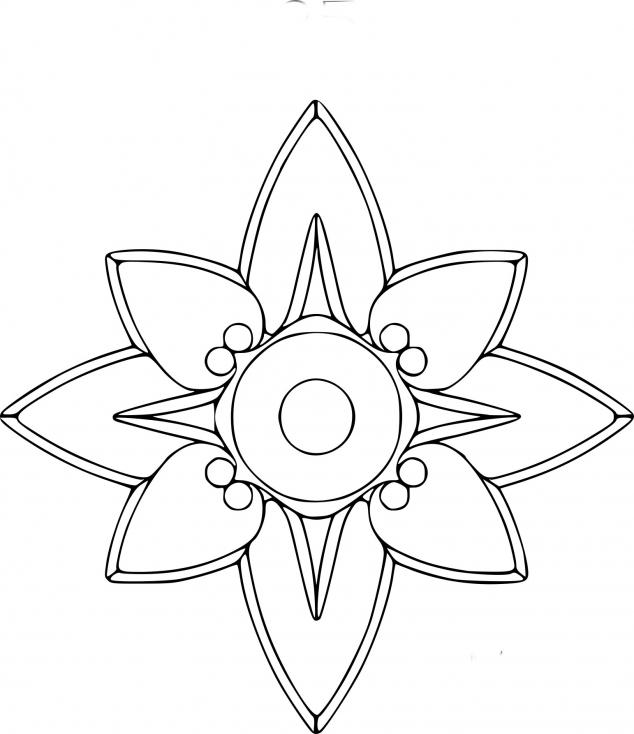 Coloriage Rosace etoile à imprimer