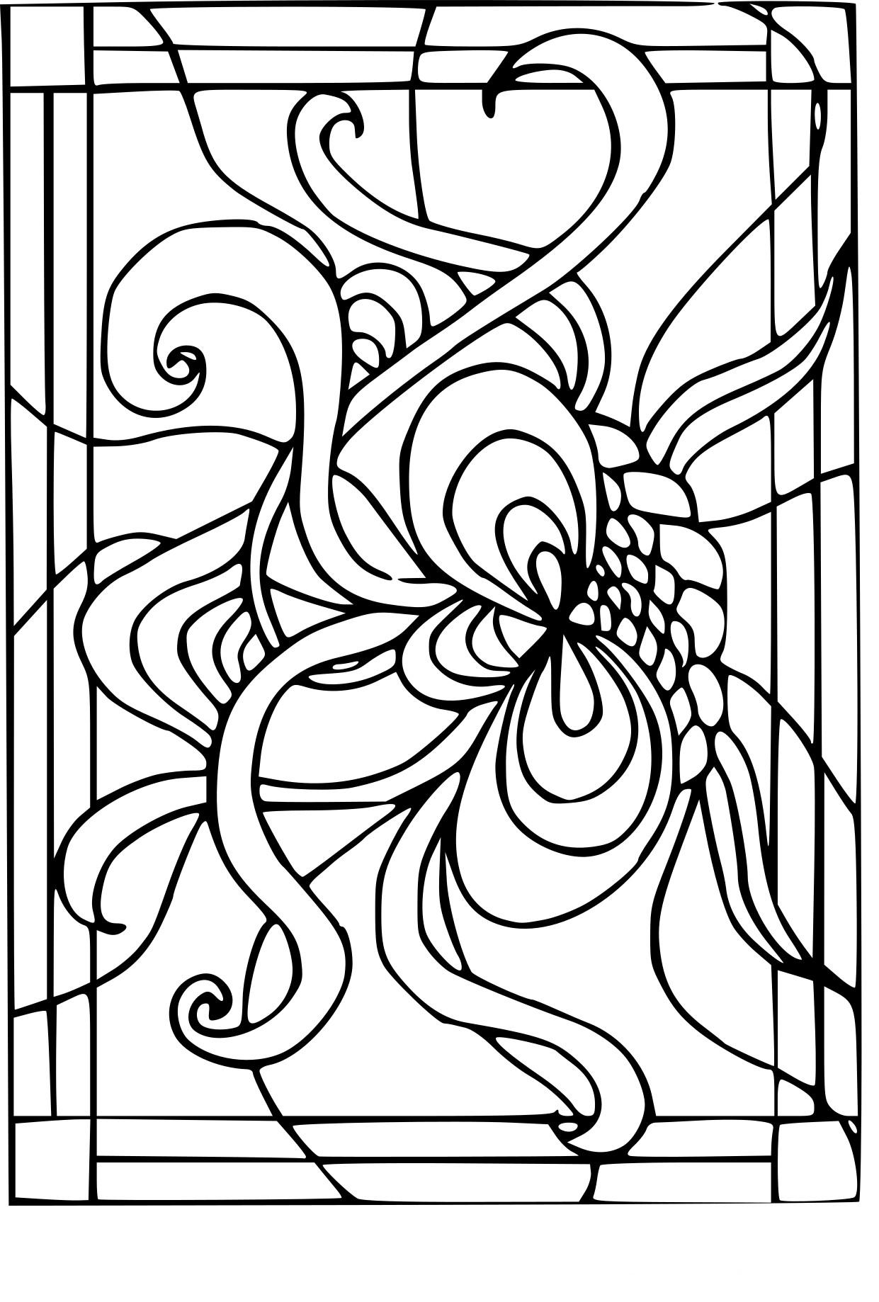 Coloriage vitrail imprimer sur coloriages info - Vitraux a colorier ...