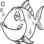 Piranha dessin dessin à colorier