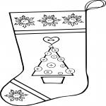 Chaussette de Noel dessin dessin à colorier
