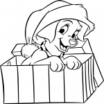 Chien Noel dessin à colorier