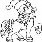 Noël cheval dessin à colorier