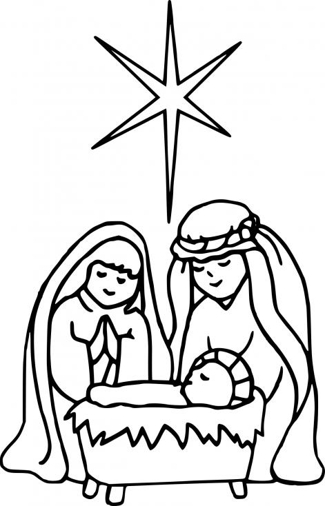 Coloriage Noel Jesus à imprimer