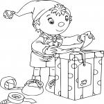 Oui-Oui Noel dessin à colorier