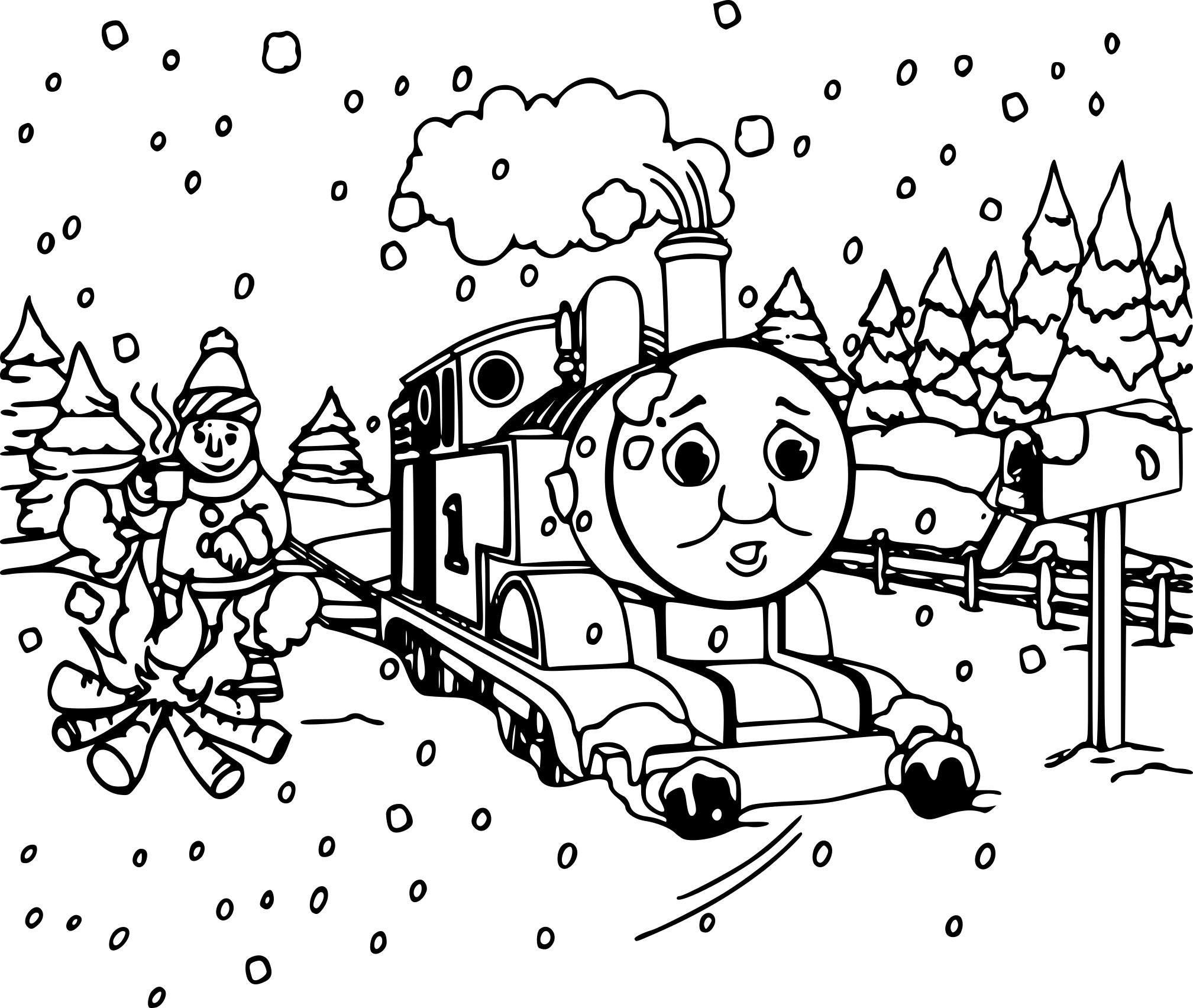 Coloriage Train de noël à imprimer sur COLORIAGES .info
