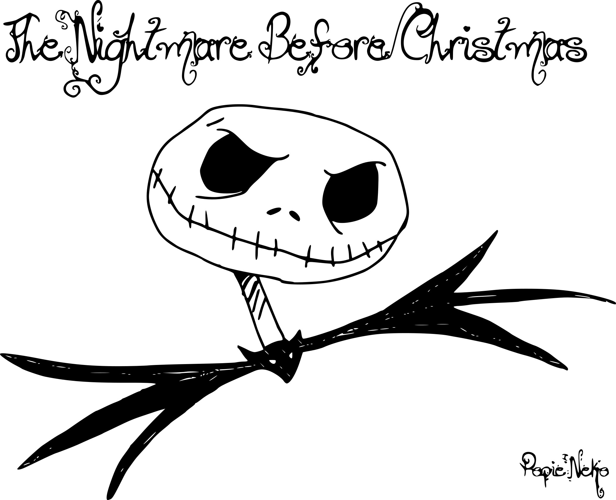 Coloriage Monsieur Jack dessin à imprimer sur COLORIAGES .info